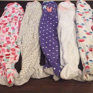 Girls Carters footie pajamas